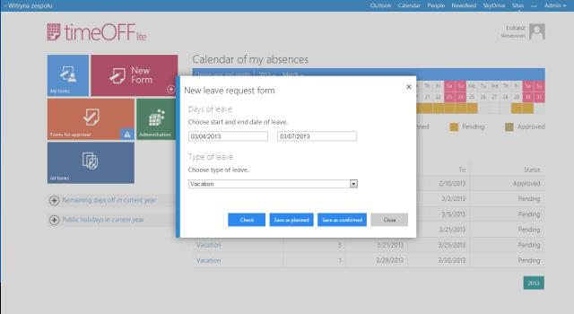Timeoff - The Employees' Leave Requests App For Sharepoint | Fild.Net